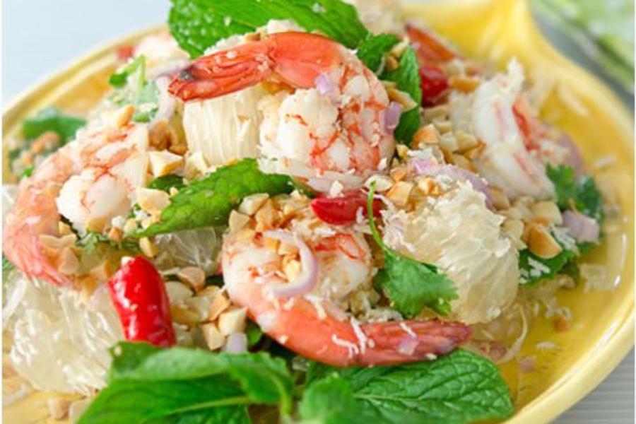 Salad bưởi kiểu Thái - công thức thơm ngon giúp giảm cân bằng bưởi trong 1 tuần